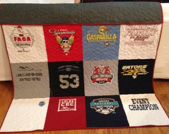 T-shirt Quilt Custom Made Memory quilt DEPOSIT ONLY
