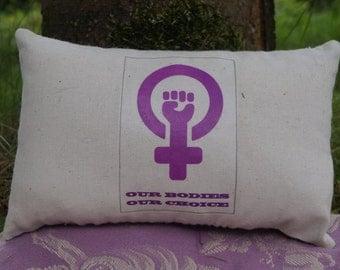 Our Bodies, Our Choice Miniature Throw Pillow Cushion