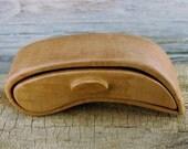 Wood Bandsaw Box - Curly Maple - Rustic Box - Jewelry Box - Guitar Pick Box - Ring Box - Keepsake Box - Drawer Box - Wooden Box