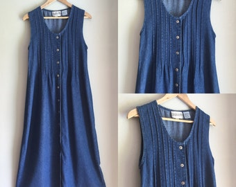 Denim dress size small