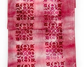 Table runner, hand-dyed f...