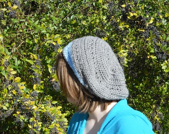 Blue and Gray Slouch Hat
