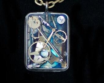 Steampunk Watch Part Necklace Steampunk Gear Pendant Steampunk Gear Jewelry Steampunk Gifts Steampunk Bridesmaids Steampunk Necklace