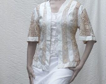 Battenberg lace jacket, Antique Lace clothing,Edwardian Era, Promenade on the Titanic