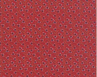 Lorraine red floral 1/2 yard cotton fabric by American Jane for Moda fabric 21683 12
