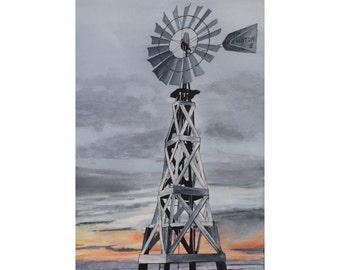 Aermotor Vintage Windmill - 11 x 14 print