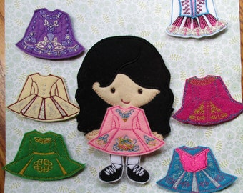 Irish Dancer Non Paper Doll and 7 Outfits