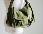 Mother's Day SALE 30% Off + Mysterious Gift - Pico2 in Army Green (Water Resistant) School / Shoulder Bag / Messenger Bag/ tote / Diaper Bag