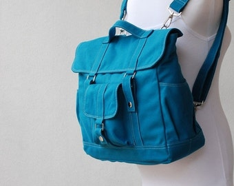 Mother's Day SALE 30% Off + Mysterious Gift - Pico2 Backpack  in Dark Teal (Water Resistant) Satchel / Laptop / Shoulder Bag / Rucksack