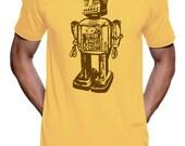 Vintage Sci-Fi Robot T Shirt - American Apparel Tshirt - XS S M L Xl Xxl (Color Options)