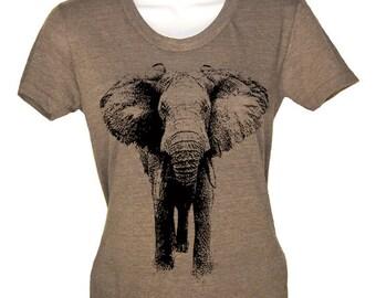 Women's T Shirt ELEPHANT Tshirt - American Apparel T-shirt - S M L Xl (15 Color Options)