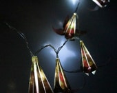 Christmas Fairy light-LED string light- origami lilies lights-home decoration-ready to ship-floral pattern-shabby chic