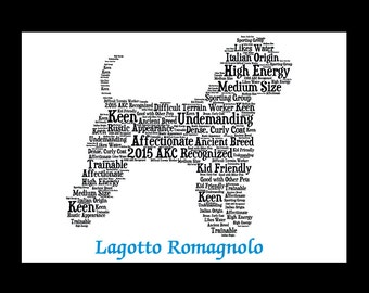 Lagotto Romagnolo, Lagotto, Custom Lagotto Romagnolo, Personalize Lagotto,Lagotto Art, Lagotto Memorial, Custom, Personalize, Pet Gift