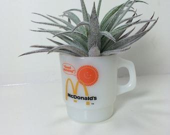 "Vintage McDonald's Coffee Cup / Mug - ""Good Morning Sun"" - 1970s - Anchor Hocking - Fireking - Made in U.S.A."