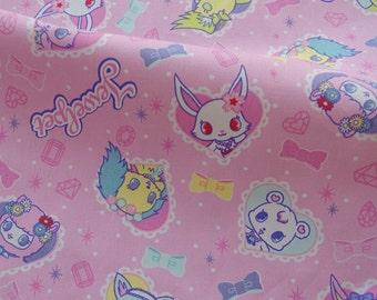 C186 - 1 meter  Cotton Canvas Fabric - Cartoon - shokupan mimi (それいけ!アンパンマン)  (148cm width)