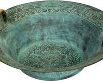 Large Tibetan Dragon Bowl