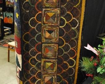 Clam shell rug