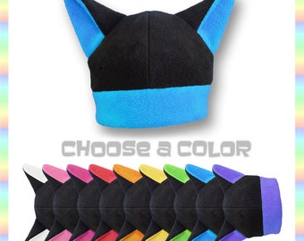 COLORFUL KITTY HAT - Choose Your Color Soft AntiPill Fleece Cat Hat