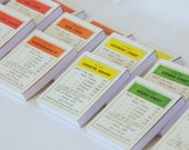 Monopoly Property Notepads - Choose a Set of Colours (2 or 3 notepads per set)