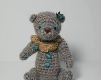 OOAK Artist Bear Crochet Miniature Bear  *Prince*