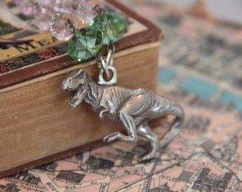 T Rex Vacations in Paris Necklace