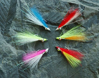 Great Fisherman's Gift, Fly Fishing Clouser minnow streamer flies, for bass bonefish specks blues striper etc.