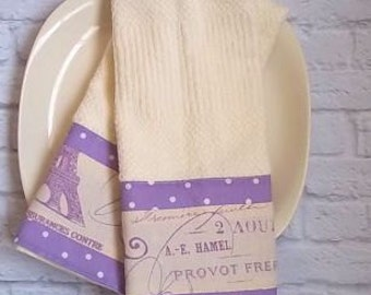 French Script Decorated Kitchen Towel