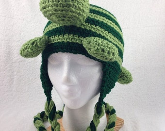 Crocheted Turtle Hat