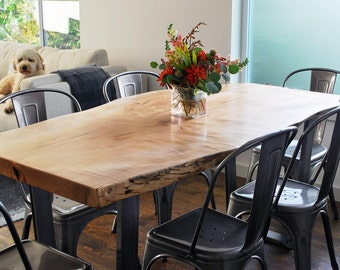 Your CUSTOM small/medium DINING TABLE - Natural - Modern - Charming