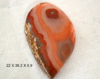 RESERVED for Susie Moroccan Seam Agate. peach and red. 22 x 36.2 x 5.9