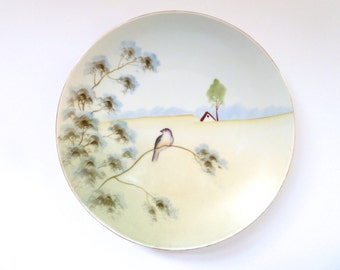 Vintage Meito China Hand Painted Plate