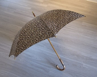 Vintage Mespo Animal Print Umbrella