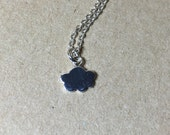 Cute cloud necklace, sterling silver