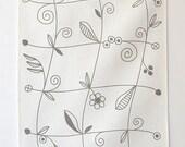 Linen Tea Towel - Little Vine