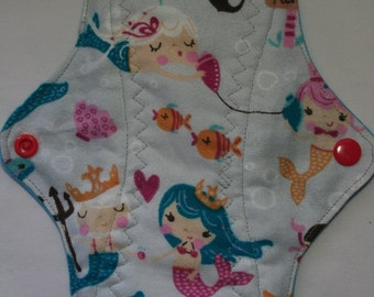 Kiki Mama Cloth Menstrual Pad Size Regular Mermaid Under the Sea