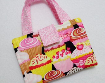 Cupcake Print Crayon Wallet. Free USPS First Class Shipping/ Ready to ship.