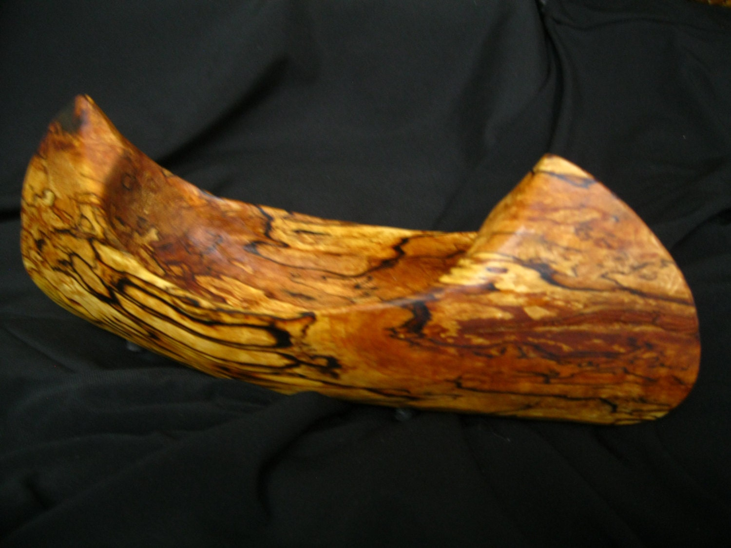 Hand carved rare west coast sugar maple canoe polished with