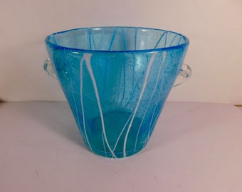 Hand Crafted Glass Ice Bucket - 5 Inches Tall