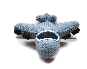 MADE TO ORDER: Hand knit B-52 Stratofortress Plane Toy Model
