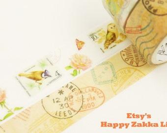 Post - Japanese Washi Masking Tape Set - 2 rolls - 3.3 Yards (each roll)