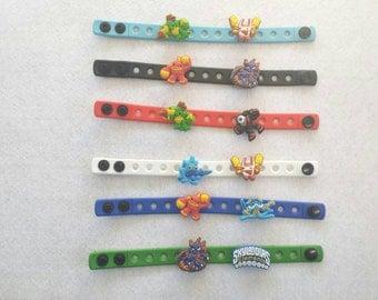 10 Skylanders Silicone Charm Bracelets