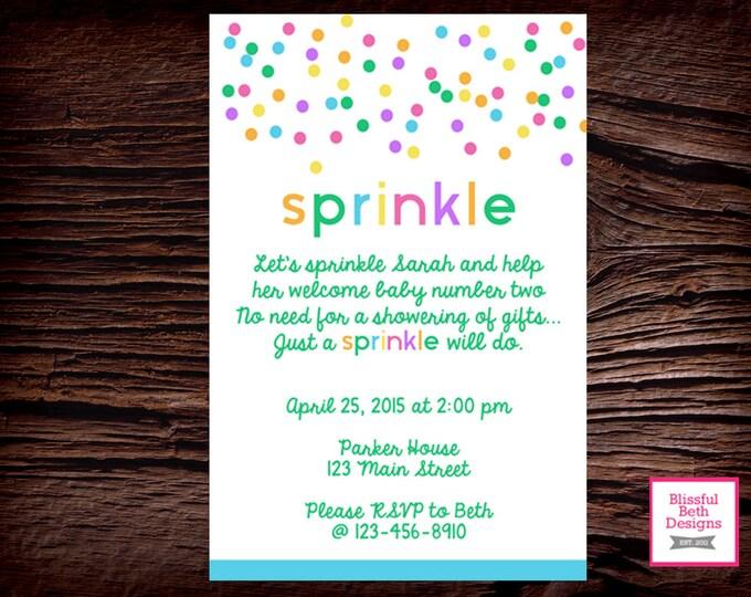 BABY SPRINKLE INVITATION Baby Sprinkle Invitation, Printable Baby Sprinkle  Invitation, Sprinkle Invitation, Baby Sprinkle , Sprinkle