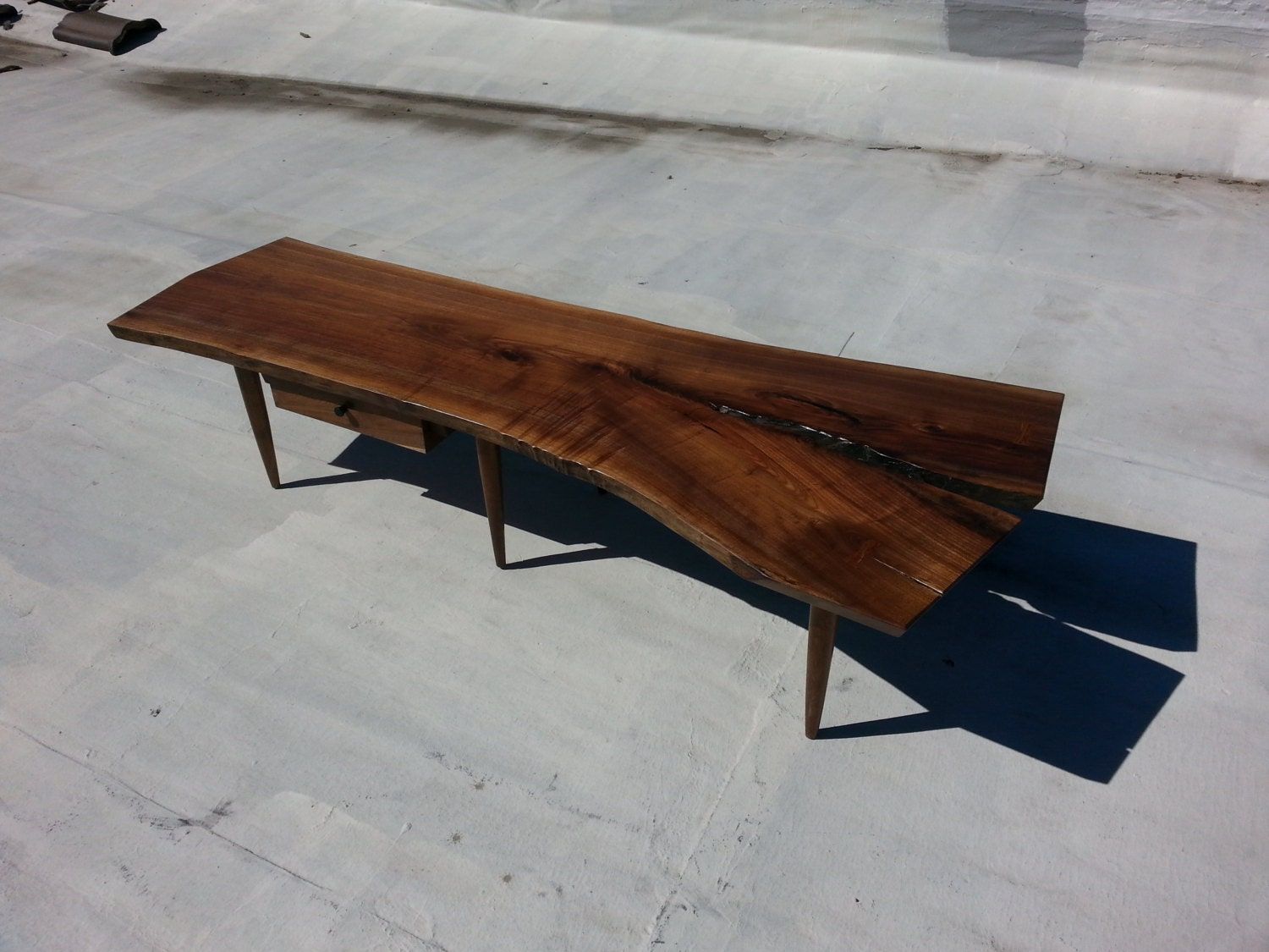 Walnut Live Edge Slab Crotch Cut Coffee Table By Madebygideon
