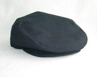 Navy Wedding Groomsman Hat,  Wedding Flat Cap, Ring Bearer Navy Traditional Hat, Classic Wedding Newsboy Hat, Birthday Boy Photo Flat Cap