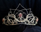 Custom Silver Bridal Headpiece with Flower and Leaf Design Wire Tiara - Great for Princess Costume, Fairy Costume, Wedding Jewelry