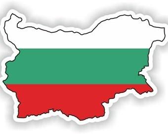Bulgaria Map Flag Silhouette Sticker for Laptop Book Fridge Guitar Motorcycle Helmet ToolBox Door PC Boat