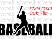 SVG DXF Baseball Word Cut File