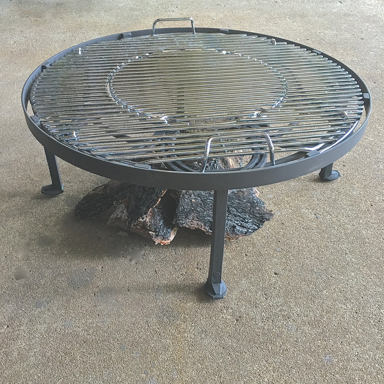 Outdoor Firepit Stand heavy duty round metal stand BBQ