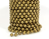 10ft 6.4mm Ball Chain - Antique Brass - CH99-AB