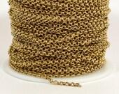 2,5 mm Rolo Chain - Messing antik - plattiert in den USA - CHG10-AB - wählen Sie Ihre Länge